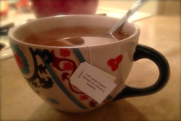 Tea bag messages