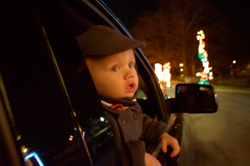 Look at this little face. He is totally mesmerized by all of the lights.