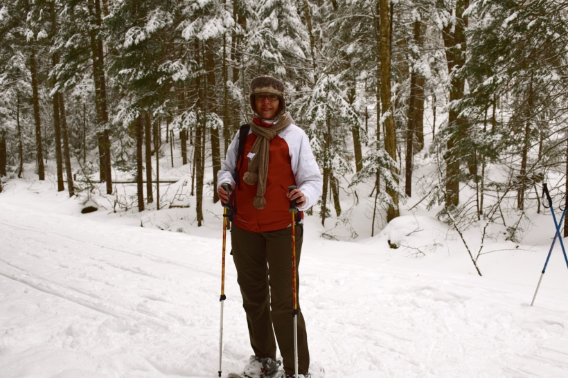 Snowshoeing in Santanoni Preserve