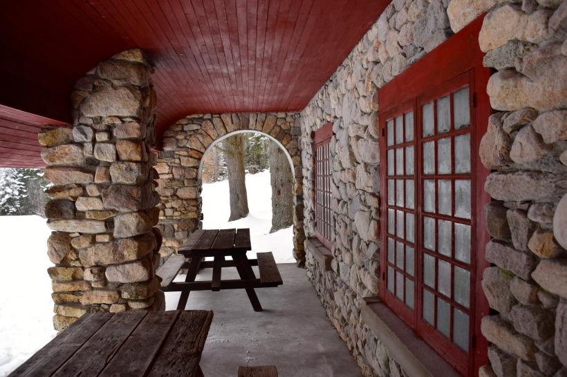 Loved this stone building in Santanoni Preserve