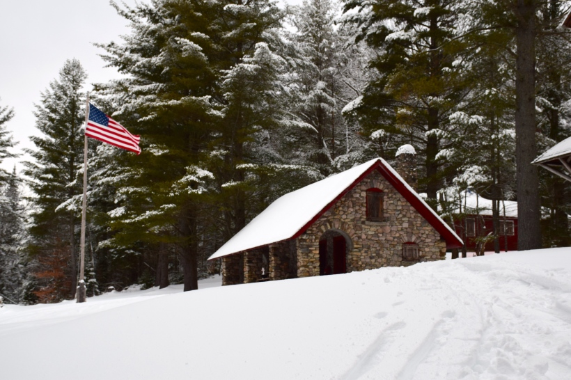 Stone House in Santanoni Preserve in the Adirondacks