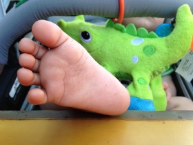 The foot of a baby