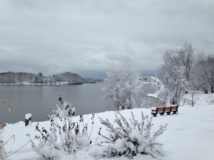 View of Hudson River from Route 4, Stillwater, NY