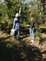 My son and daughter apple picking last fall