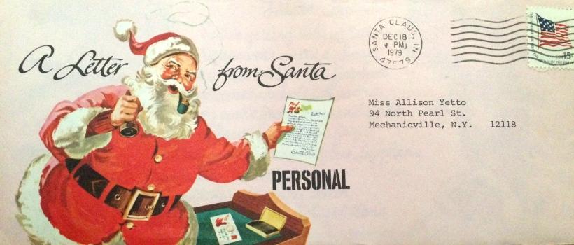 My daughter's envelope from Santa