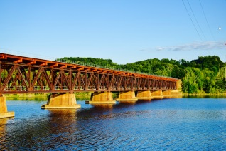 Hudson River Bridge in Stillwater, NY