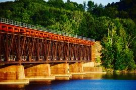 Closer angle of Stillwater - Mechanicville train bridge