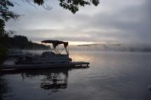 Sunrise on Crystal Lake in New Hampshire