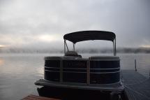 Sunrise - foggy morning on Crystal Lake in New Hampshire