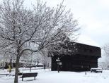 Stillwater Block House in winter