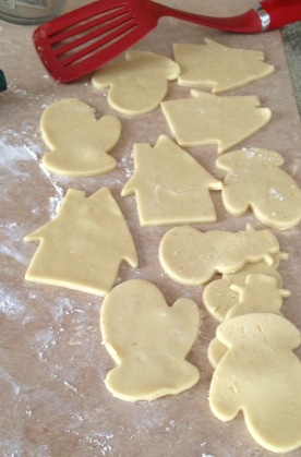 Cutting the cookies