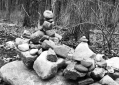 Balancing the rocks seem weightless