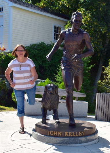 Running with John Kelly in Mystic Seaport, CT