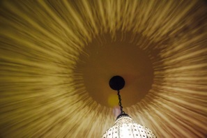 Light dancing on the ceiling