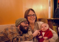 Uncle Joe, Mimi, and baby Colt