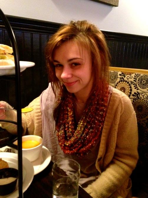 Taylor enjoying her meal