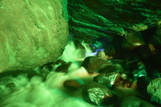 Inside lighted cave - Pattersonville, NY