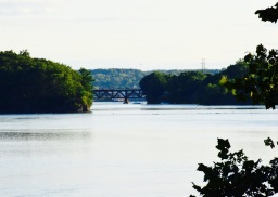 View of the train trestle from the Blockhouse in Stillwater