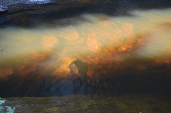 Sun glow on the water