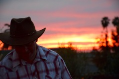 Glow of the setting sun in California