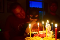Glow of Birthday candles