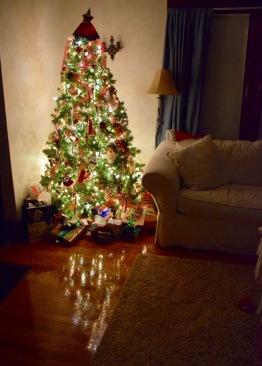 Glow of the Christmas tree
