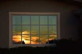 Santa Barbara sunset captured in the window