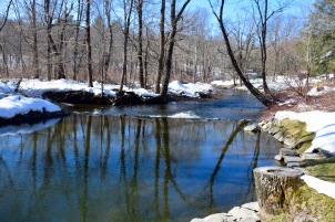 The swimming hole in warm weather