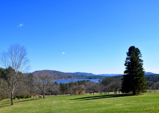 Lake view from Kripalu