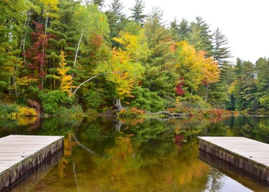 Entering Fish Creek in Saranac Lake