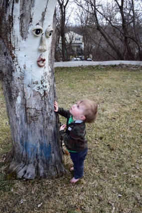 Colt age 1 - first conversation with a tree